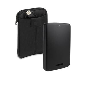 Toshiba Disque Dur CANVIO BASICS 2.5 1To Noir + Case Logic Housse VHS101