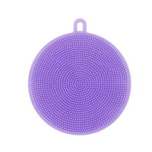ÉPONGE VAISSELLE Napoulen®2pcs Nettoyeur éponge à vaisselle en sili