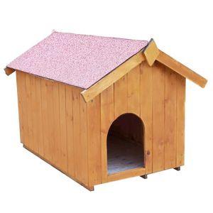 NICHE Niche à chien toit bitumé bipente 0,77m² - Pour pe