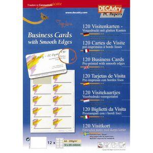 Pochette 120 Cartes De Visite Pr Imprimes TopLine