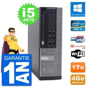 ORDI BUREAU RECONDITIONNÉ PC Dell 9020 SFF Intel Core i5-4570 RAM 4Go Disque