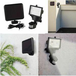 LAMPION EXBON® Projecteur Solaire 60 leds avec détecteur d