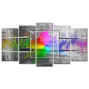 TABLEAU - TOILE Tableau Déco Design Multicolore - 150x80 cm