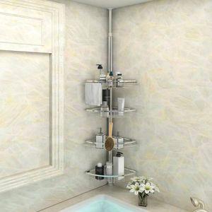 COLONNE - ARMOIRE SDB Etagere salle de bain Etagère de Douche Télescopiq