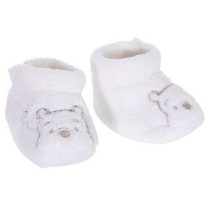 tout neuf 4a188 7d4b4 Chaussons polaires bébé mixte tê... Blanc/gris - Achat ...
