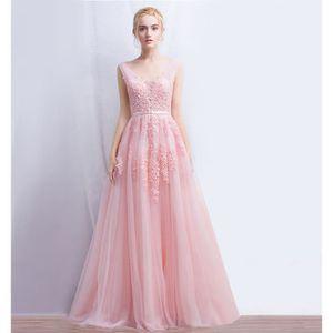 Robe de mariee rose pale