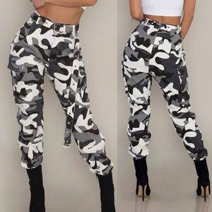 PANTALON Femmes Camo Cargo Pantalons Pantalons Casual Milit ... 58ac43ba4ac