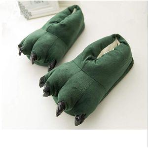 CHAUSSON - PANTOUFLE Chausson Patte d ours Vert - Homme Femme - Cadeau 8b8d0ee8a7c5
