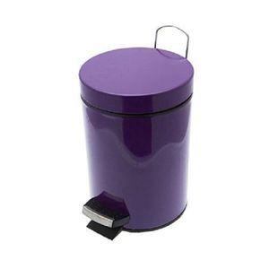 POUBELLE - CORBEILLE Poubelle à pédale en métal coloris violet - Dim :