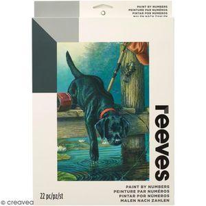 PEINTURE AU NUMÉRO Peinture au numéro Adulte Reeves - Chien de pêcheu
