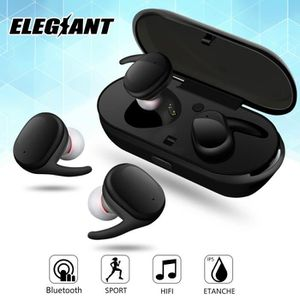 CASQUE - ÉCOUTEURS 2X ELEGIANT Écouteurs Bluetooth Sans fil Etanche O