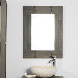 Miroir bois salle de bain - Achat / Vente pas cher