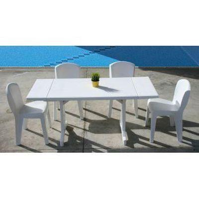 Salon de jardin résine 4 couverts, table 110/16… - Achat / Vente ...