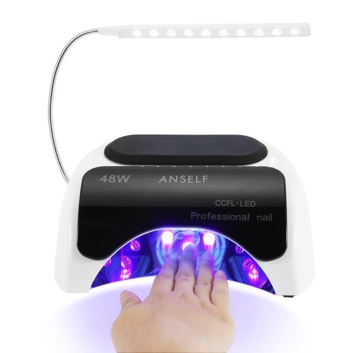 LED + CCFL Anself 48W Nail Art Gel UV Lampe Sèche-ongles intégré ...