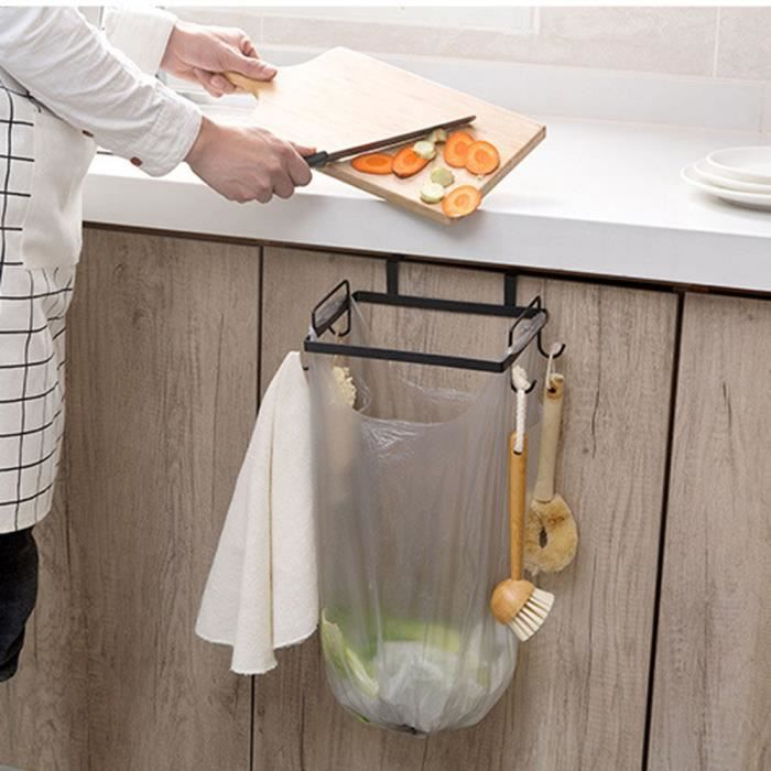 Étonnant Armoires de Porte-sac poubelle de cuisine portable en tissu Porte WX-21