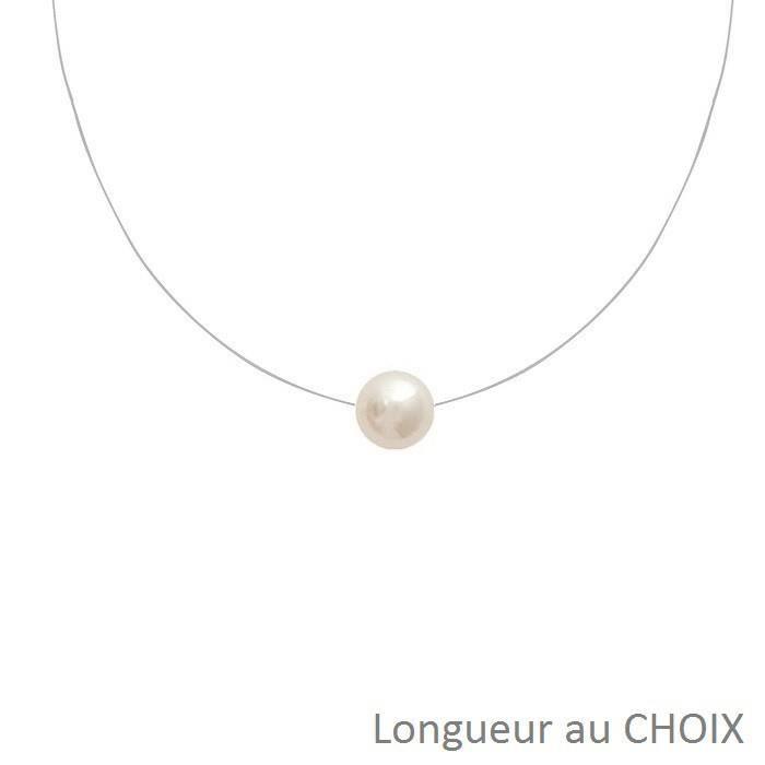 9032d92c77d14 Collier nylon avec perle - Achat / Vente pas cher