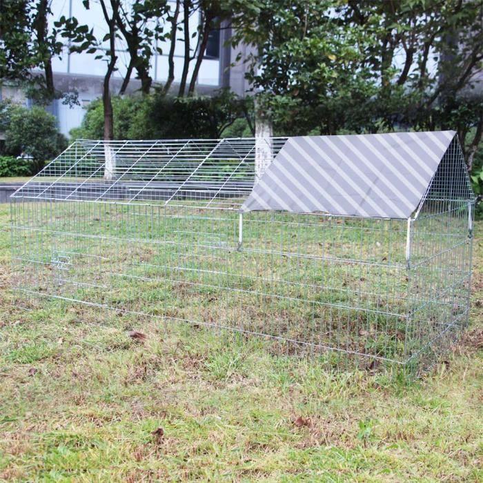 CLAPIER Enclos Lapin Parc ouvert Cage à lapin Lièvre Clapi