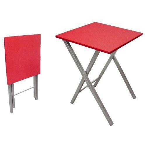 Table pliante 48 cm rouge achat vente table de for Petite table de cuisine conforama