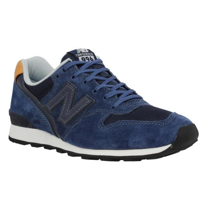 85dc13bfd8 Baskets femme NEW BALANCE 996 Velours + Toile Femme - Couleur Navy ...