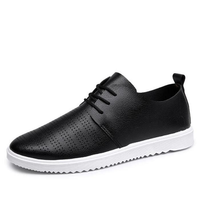 chaussures homme perforé En Cuir Marque De Luxe Moccasins Nouvelle Mode 2017 ete Loafer hommes Cuir Grande Taille 39-44
