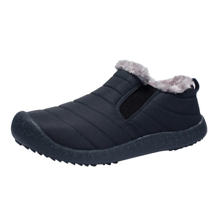 Bleu Bottes En Foncé Peluche Coton L'usure Neige Chaussures À D'hiver D'homme Courte Résistant z1q1Pa