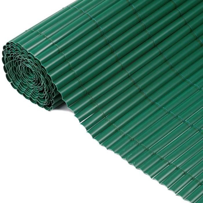 clôture de jardin PVC Vert 1,5 x 5 m 6050332