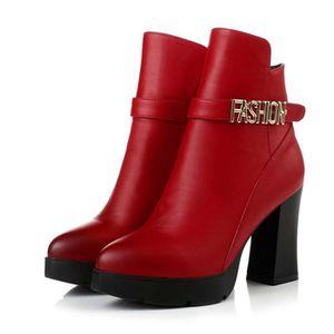 et plus talons bottes hauts de zipper épaisse occas avec des velours chaussures bottes à Automne chaudes hiver coton pour femmes vqd4wvaRx