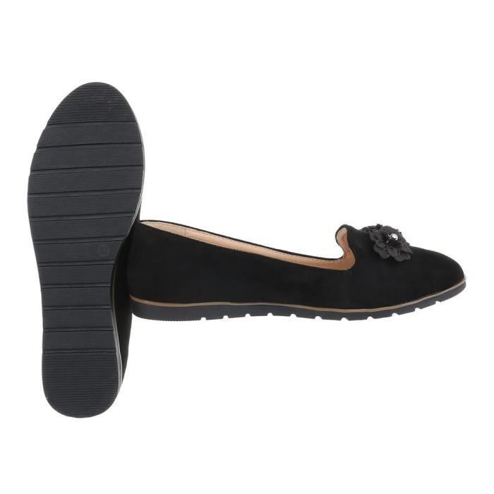 41 Mocassin neurs Noir Femme Fl Chaussures XBvptnwax