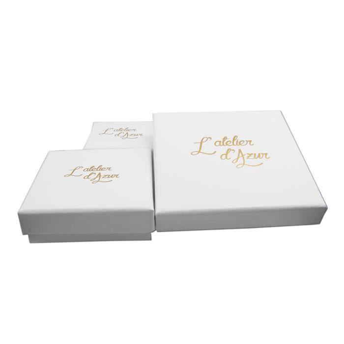 Bracelet Femme Or Blanc - Maille Palmier
