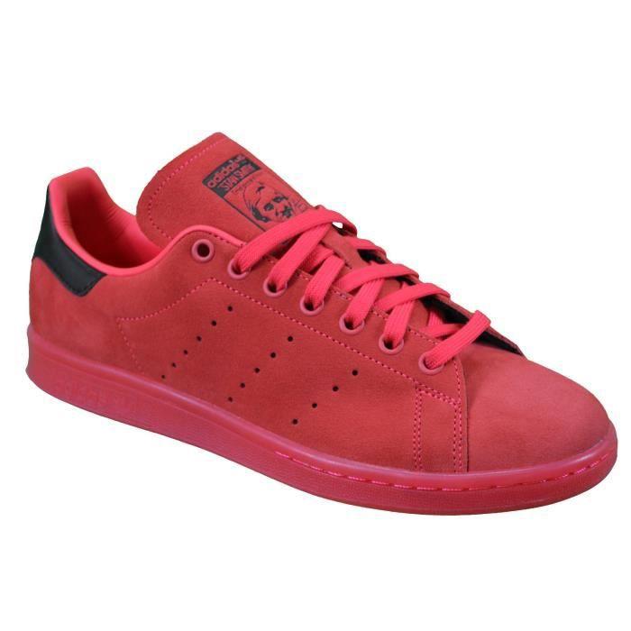 Adidas Originals - Baskets - Stan Smith S80032 - Rouge Corail Nubuck