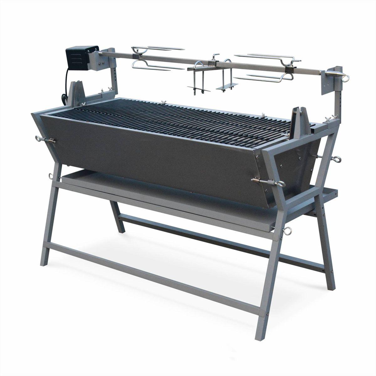 barbecue avec tournebroche achat vente barbecue avec tournebroche pas cher soldes d s le. Black Bedroom Furniture Sets. Home Design Ideas
