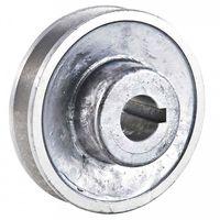 POULIE D'ALTERNATEUR Poulie en aluminium Alesage O 19 mm. Diametre 80 m