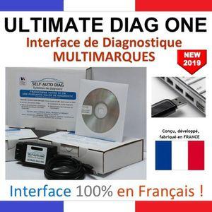Valise diagnostic multimarques ULTIMATE DIAG ONE - Interface diagnostique multimarque OBD et logiciel SELF AUTO DIAG sur Clé USB