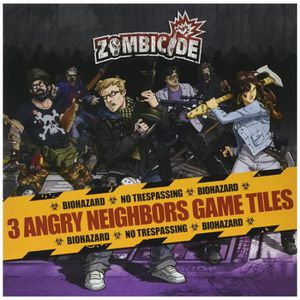 ACCESSOIRE MULTI-JEUX Zombicide : 3 Angry Neighbors Game Tiles - Edge HJ