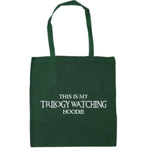 SAC SHOPPING Femmes This Is My Trilogy Watching Hoodie Tote Sac