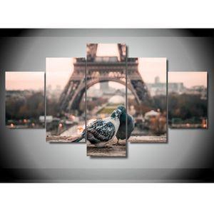 TABLEAU - TOILE Toile sans cadre Peinture 5 pièces imprimées Paris
