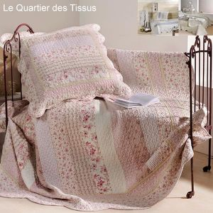 couvre lit toile de jouy achat vente couvre lit toile de jouy pas cher cdiscount. Black Bedroom Furniture Sets. Home Design Ideas