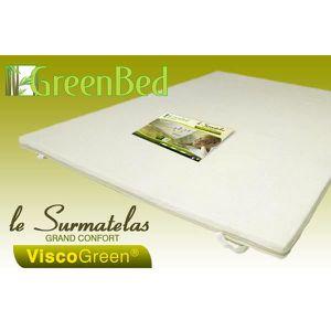 SUR-MATELAS Surmatelas mémoire de forme 90x200 Viscogreen