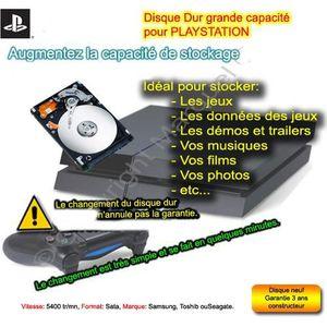 DISQUE DUR INTERNE Disque dur 1000 Go pour Playstation 3 ou 4