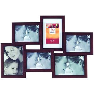 PÊLE-MÊLE PHOTO IMAGINE Cadre photo multivues wengé Lyra 3 photos