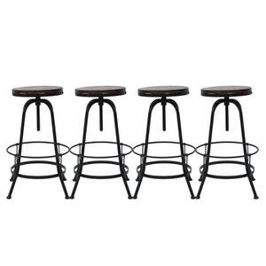 TABOURET DE BAR 4 PCS Vintage Tabouret de bar Chaise de bar ronde