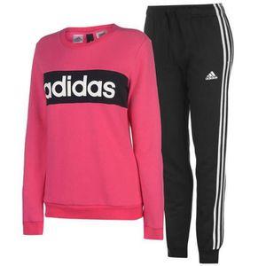 5553f166432c9 SURVÊTEMENT Jogging Polaire Adidas Rose et Gris Femme