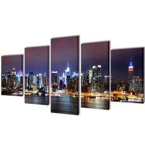TABLEAU - TOILE Set de toiles murales imprimées Horizon de New Yor