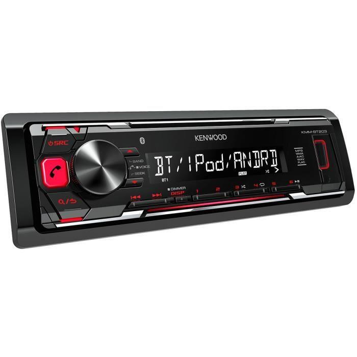 KENWOOD Autoradio KMM-BT203 AUX USB iPod iPhone Bluetooth 4 x 50 W