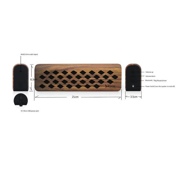 Icoox Mini Portable Sans Fil Bluetooth Csr4.1 Récent Haut-parleur Stéréo Mic Lzj61206614
