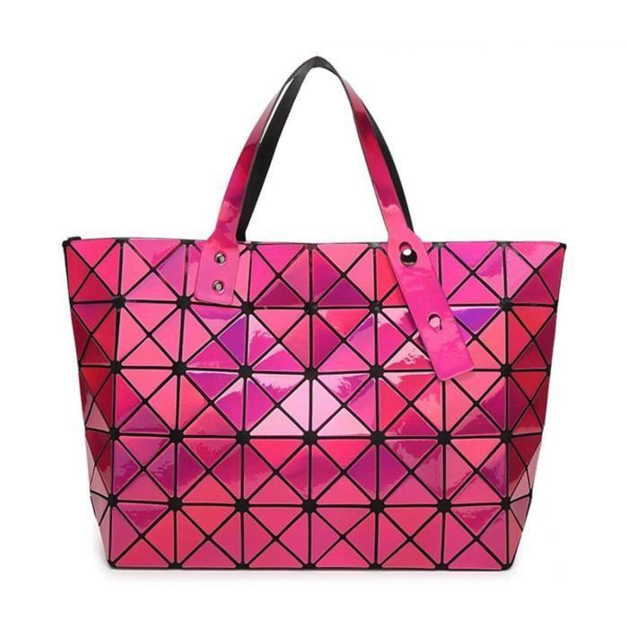 Mode géométrique de diamant brillant Tote Pvc Sac à bandoulière Sacs à main Top-manche YOG16