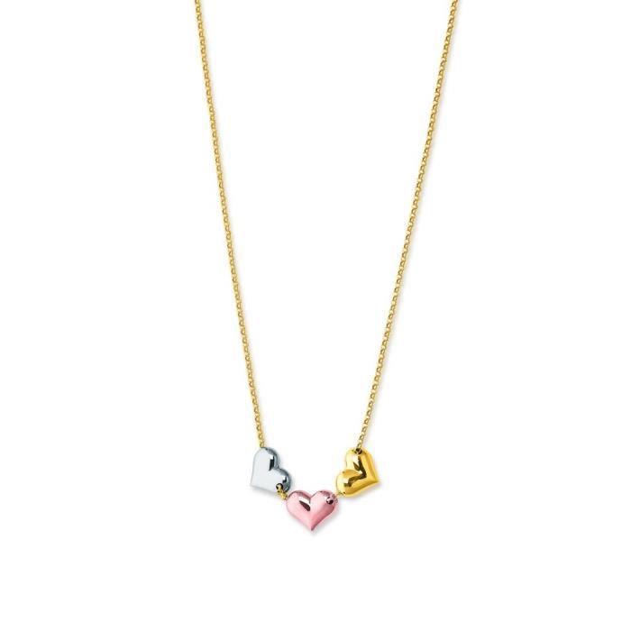 Tricolore 14 carats 3 cœurs-- 17 cm