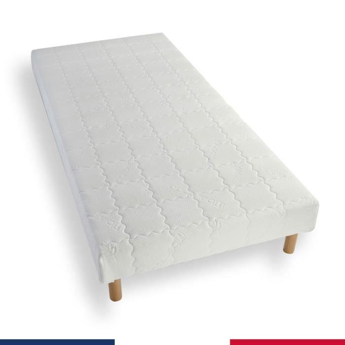 SOMMIER Sommier tapissier 160x200 lattes bois massif