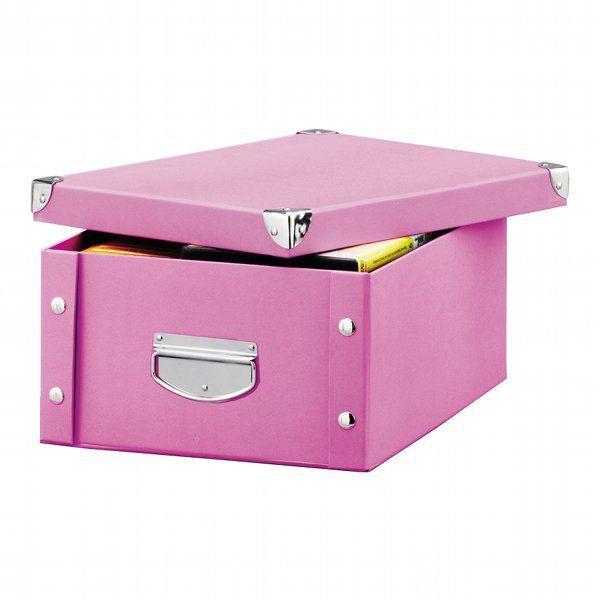 boite de rangement carton rose achat vente boite de rangement carton rose pas cher cdiscount. Black Bedroom Furniture Sets. Home Design Ideas