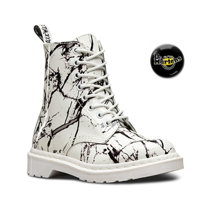 Martens Chaussures White 21443100 femme marble patent Doc Pascal 55wrv